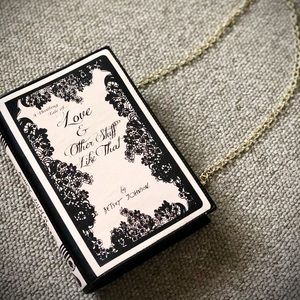 Betsey Johnson Book Purse Bag Small